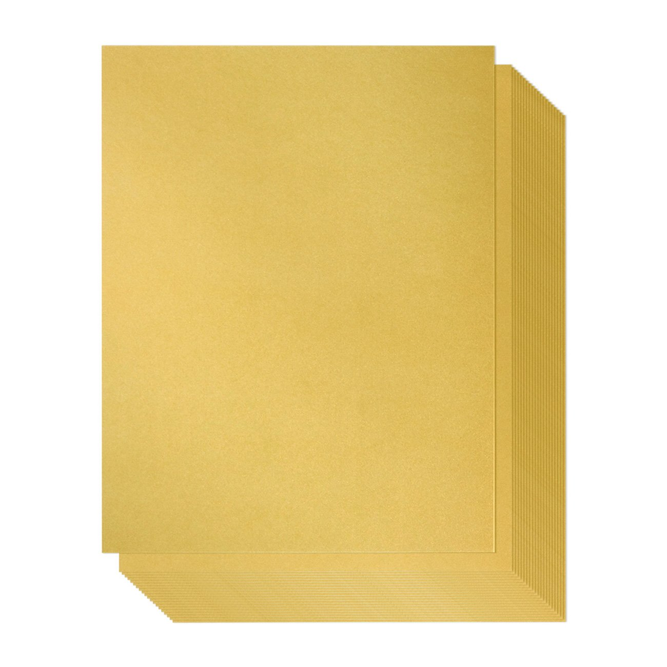 Shimmer Paper – 96-Pack Gold Metallic Cardstock Paper, Double Sided, Laser Printer Friendly - Perfect for Weddings, Baby Showers, Birthdays, Craft Use, Letter Size Sheets, 8.5 x 0.03 x 11 Inches