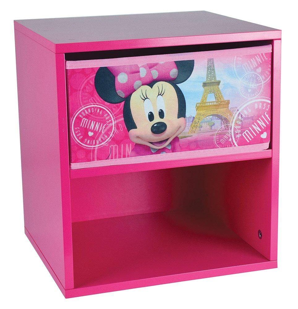 FUN HOUSE Disney Minnie tavolo comodino per bambini, MDF, 33x 30x 36cm CIJEP 712862
