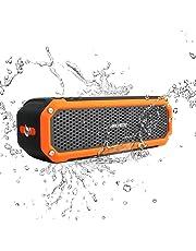 Waterproof Speaker, Archeer Wireless Bluetooth 4.0 Speaker, IPX4 Shockproof Waterproof Dustproof Outdoor Speaker with Flashlight for iPhone 6 6s Plus Galaxy S5 S6 Edge Note 5 (Orange)