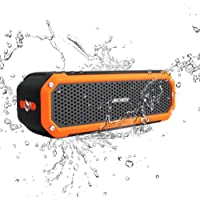 Waterproof Speaker, Archeer Wireless Bluetooth 4.0 Speaker, IPX4 Shockproof Waterproof Dustproof Outdoor Speaker with Flashlight for iPhone 6 6s Plus Galaxy S5 S6 Edge Note 5 (Orange)