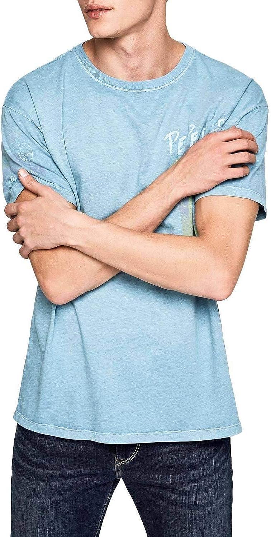 Pepe Jeans Camiseta Cruz Azul Hombre S Azul: Amazon.es: Ropa ...