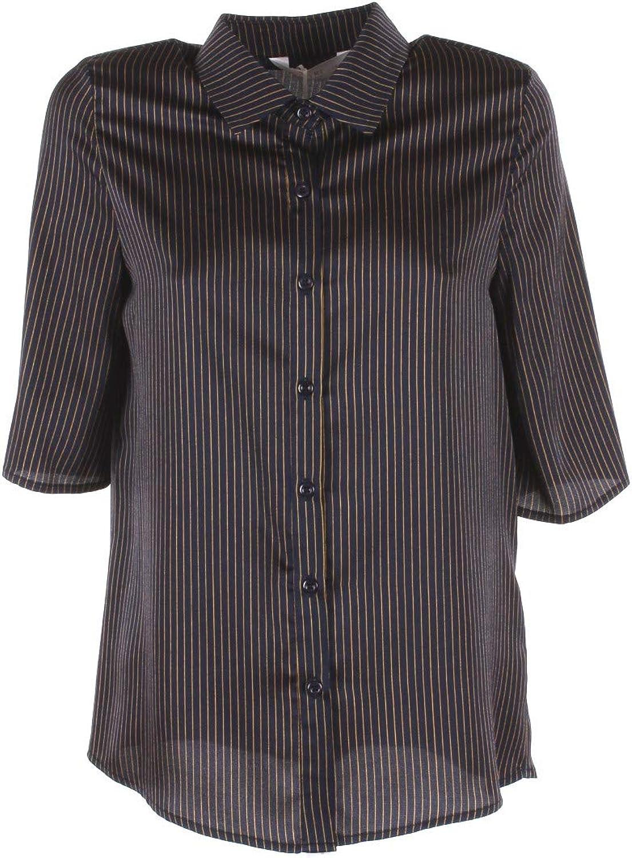 ANONYME Camicia Donna XL BLU A168ft133 Autunno Inverno 2018/19