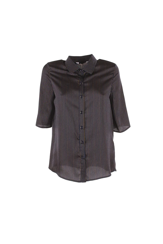 ANONYME Camicia Donna L BLU A168ft133 Autunno Inverno 2018/19