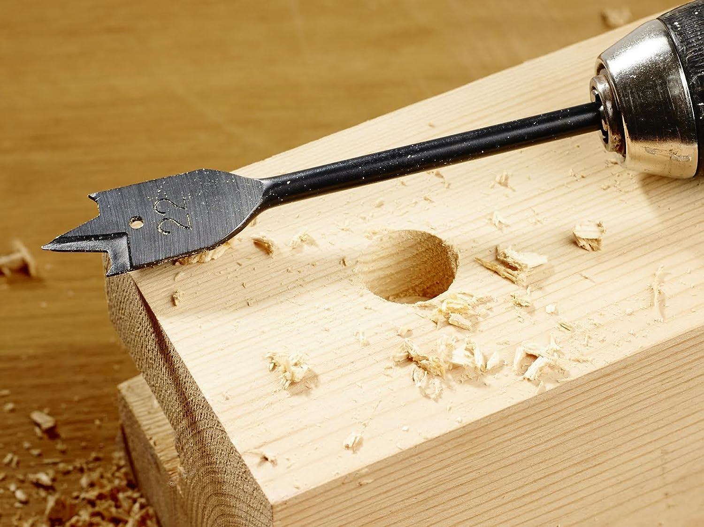 + Bonus Product ToolFreak Spade Wood Drill Bit Set Flatwood Sizes 12mm to 32mm