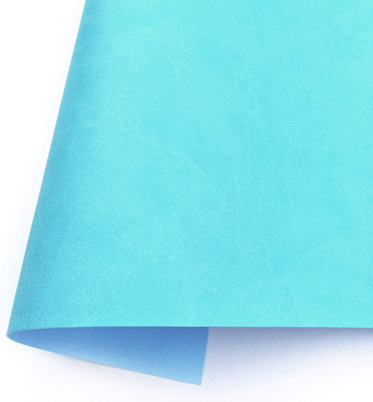 Ecopiel para encuadernación y cartonaje. 35 x 50 cm. Polipiel. Piel sintética. (mate - AZUL CARIBE)