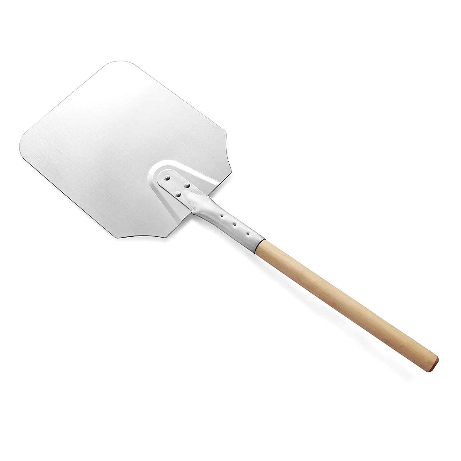 New Star Foodservice 50219 Aluminum Pizza Peel, Wooden Handle, 9 x 11 inch Blade, 26 inch overall