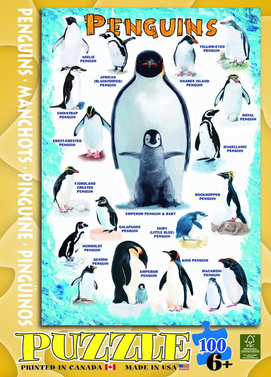 Penguins 100 Piece Jigsaw Puzzle
