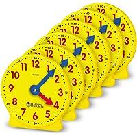 """Learning Resources LER2202 Reloj con Engranajes, 4"""", Set de 6"""
