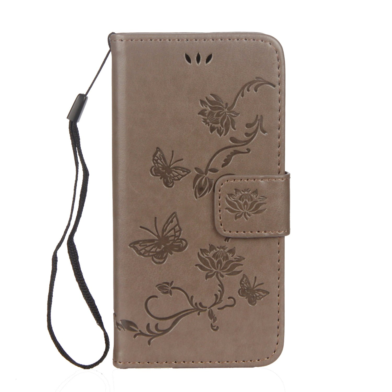 Embossed Leather Case for iPhone 7//iPhone 8,Aearl Apple iPhone 7 8 Embossed Owl Cat Flower Premium PU Leather Wallet Soft TPU Flip Cover Magnetic Card Slot Holder with Detachable Hand Strap-Green
