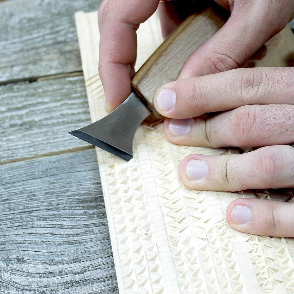 juego de herramientas geom/étricas para tallar madera con bolsa de almacenamiento Juego de cinceles para tallar madera