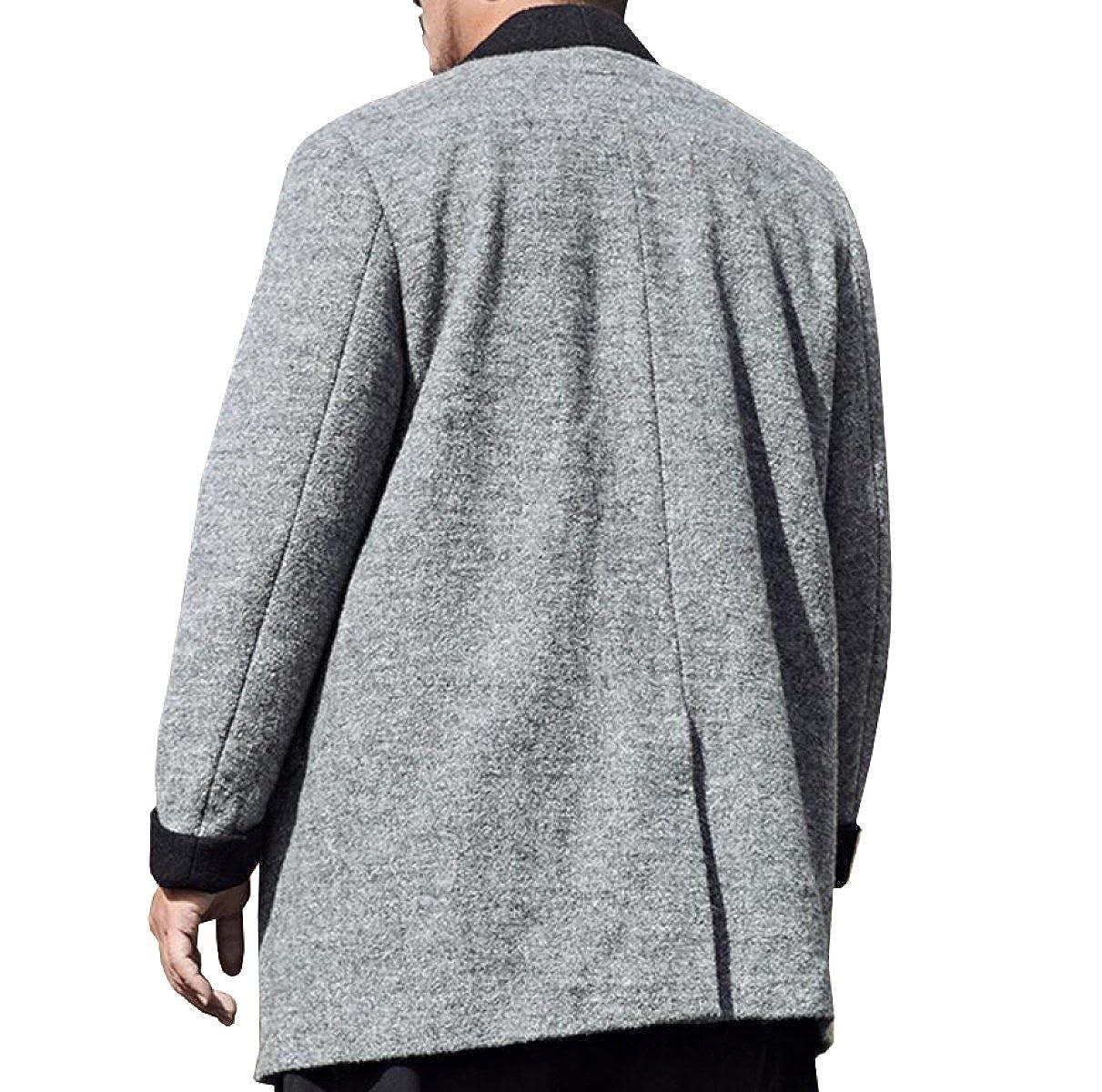 PFSYR Manteau en Laine pour Hommes en Gros Manteau en Laine