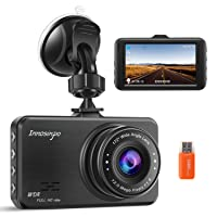 Dash Cam【2020 Upgraded Version】1080P FHD Car DVR 3 Inch Driving Recorder Dashboard Camera with 170 Degree Wide Angle WDR G-Sensor Loop Recording