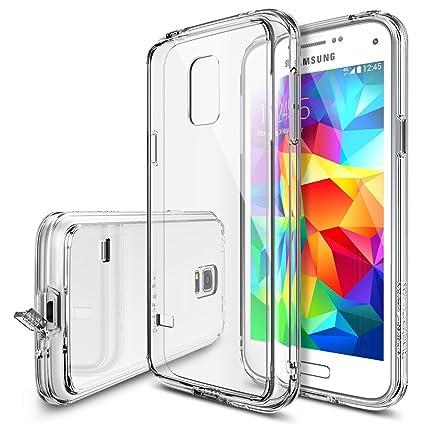 Ringke Rearth Fusion - Carcasa Trasera Personalizable para Samsung Galaxy S5 Mini, Transparente