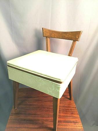 Mid Century Oak Danish Vanity and Chair MCM Free Shipping