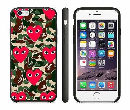 check out 918c4 f3f72 Bape X Comme Des Garcons Iphone 6 / iPhone 6S Case Black: Amazon.co ...