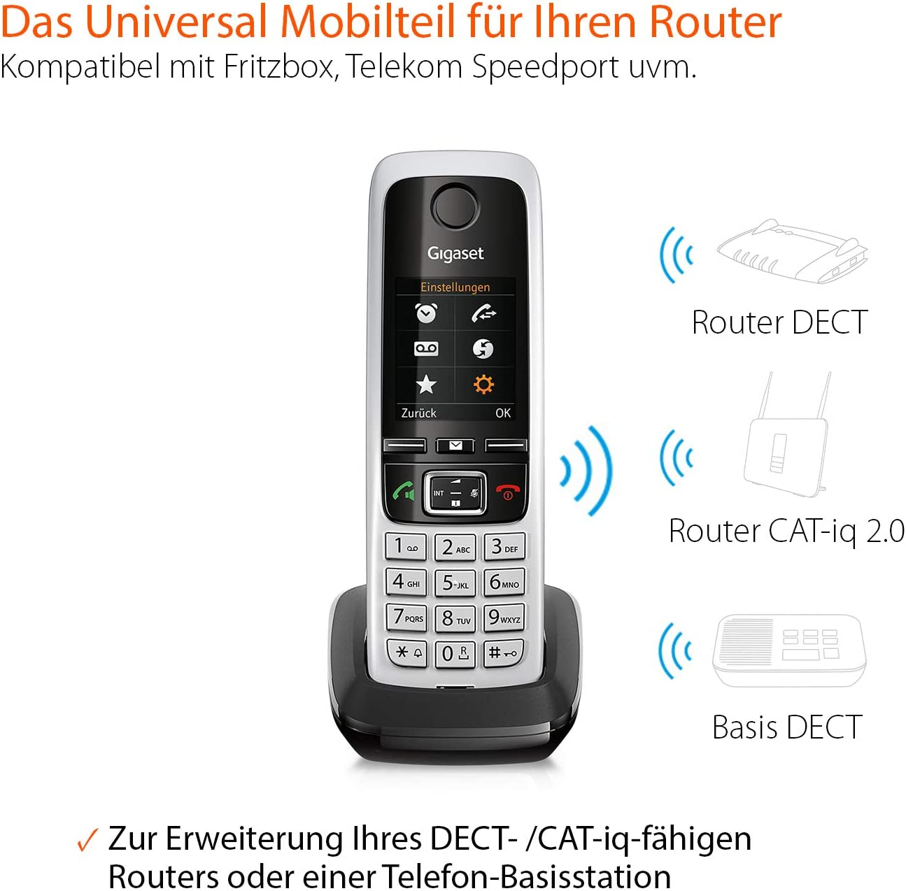Gigaset C430 HX Duo, ANALOGES TELEFON Schwarz, ZWEI MOBILTEILE: Amazon.es: Informática