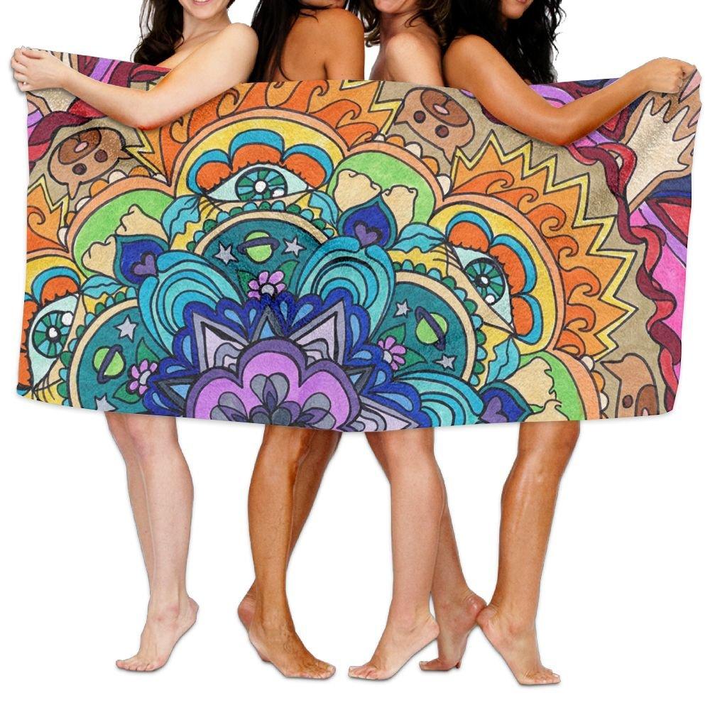 KTMB Animal Flowers Washable Extra Large Bath Beach Towel Soft Personality Towel