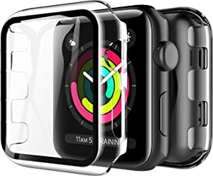 LK 2 Pack Tempered Glass Case Compatible With Apple Watch Series 3 Series 2 Series 1 38mm