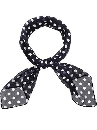 Blackwhite Women 1950s Square Chiffon Scarf Sheer Square - amazoncom roblox neck scarf square silk party