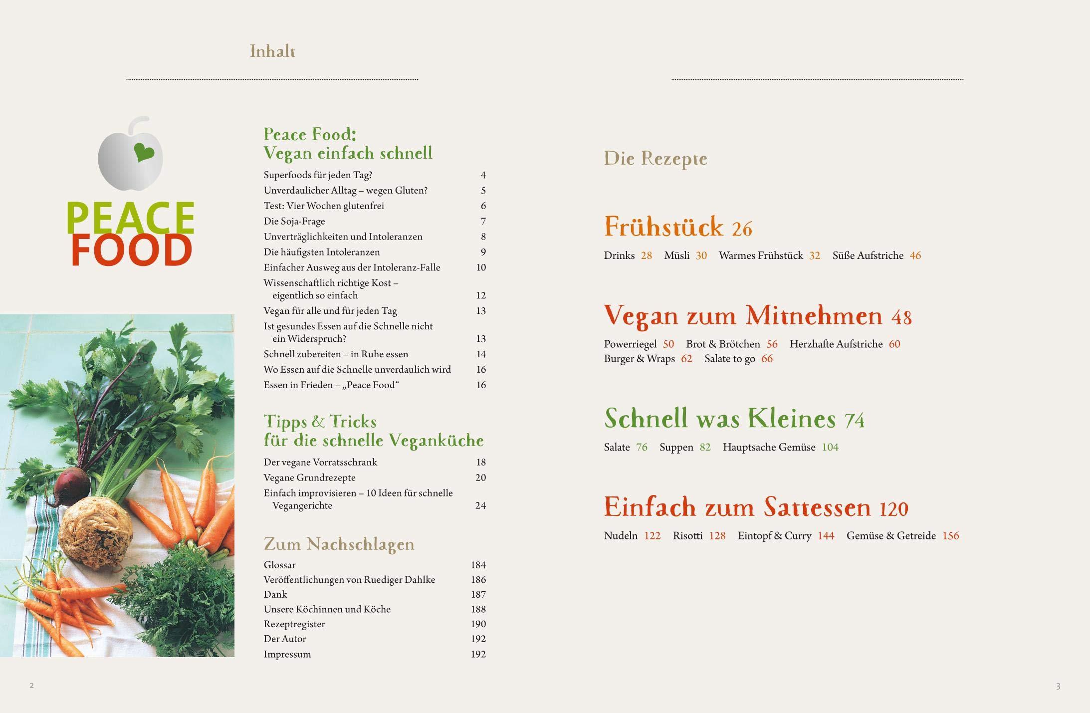 Peace Food - Vegan einfach schnell: Dahlke, Ruediger