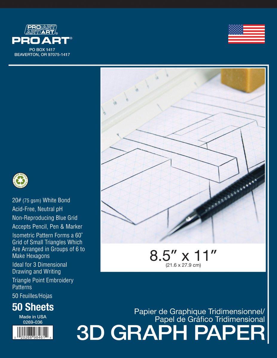 Pro Art Isometric Pad, 8.5 x 11 8.5 x 11 PRO-0269-036
