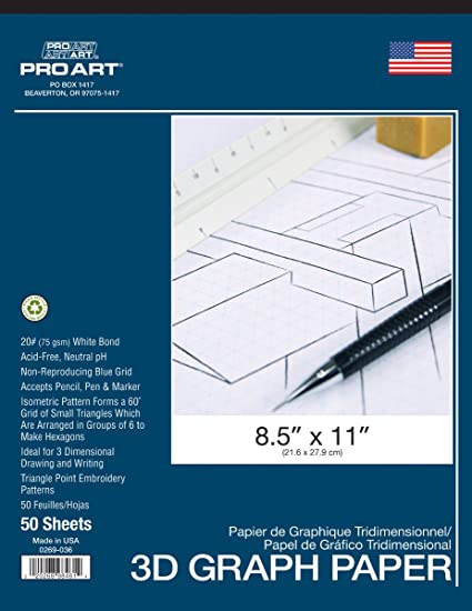 Pro Art Isometric Pad 8 5 X 11 Arts Crafts Sewing