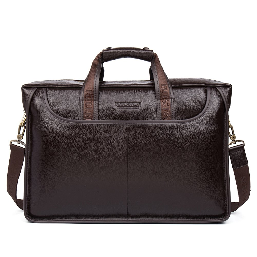 BOSTANTEN Leather Lawyers Briefcase Laptop Messenger Business Bags for Men Brown by BOSTANTEN