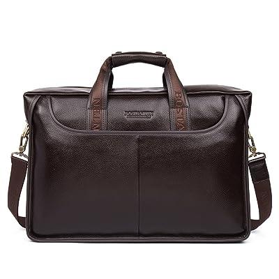 BOSTANTEN Leather Briefcase Handbag Messenger Business Bags