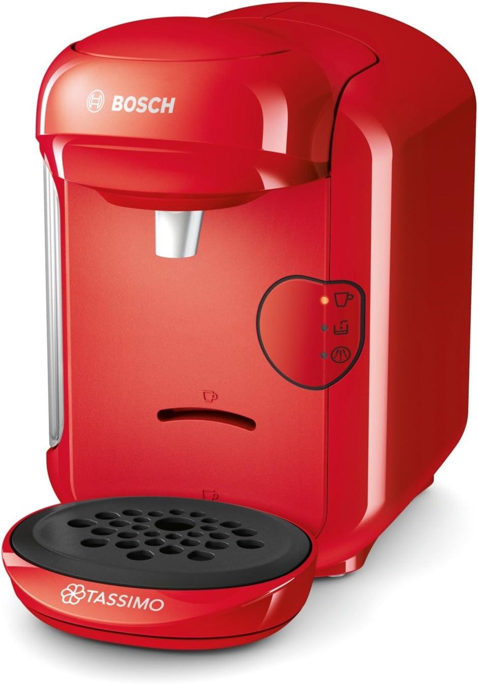 Bosch TAS1403 Tassimo Vivy 2 - Cafetera Multibebidas Automática de Cápsulas, Diseño Compacto, color Rojo: Bosch: Amazon.es: Hogar