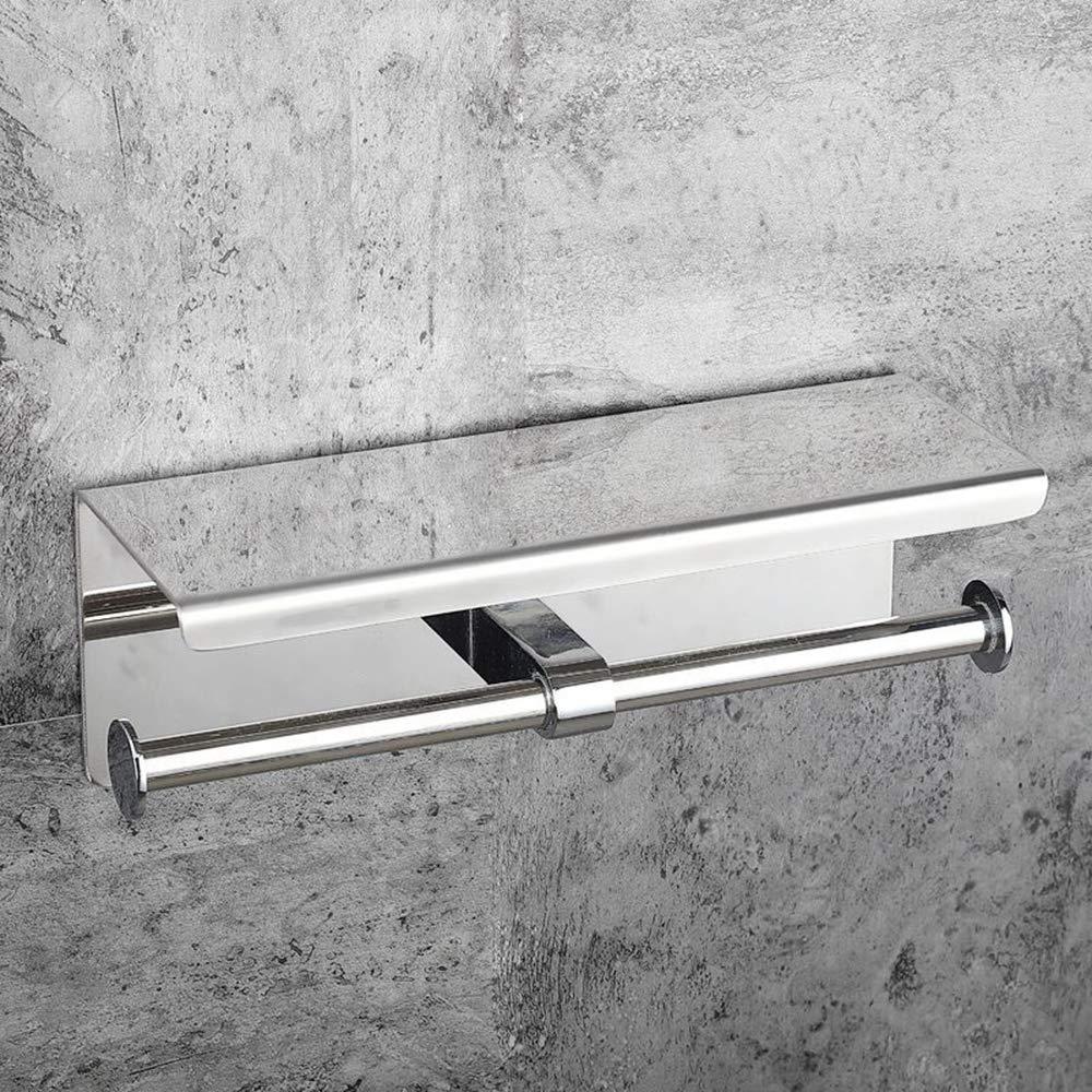 ERT Toilet Roll Holder Stainless Steel Punch Free Roll Holder Durable Odorless Square Paper Towel Holder(270110mm)