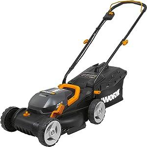 WORX WG779 40V Power Share 4.0 Ah 14″ Lawn Mower w/ Mulching & Intellicut