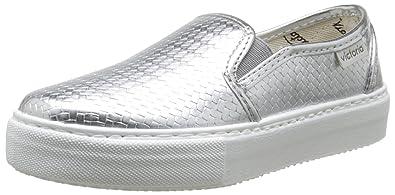 victoria Slip on Tej Trenza Metalizado, Damen Sneaker Grau Gris (Plomo) 38
