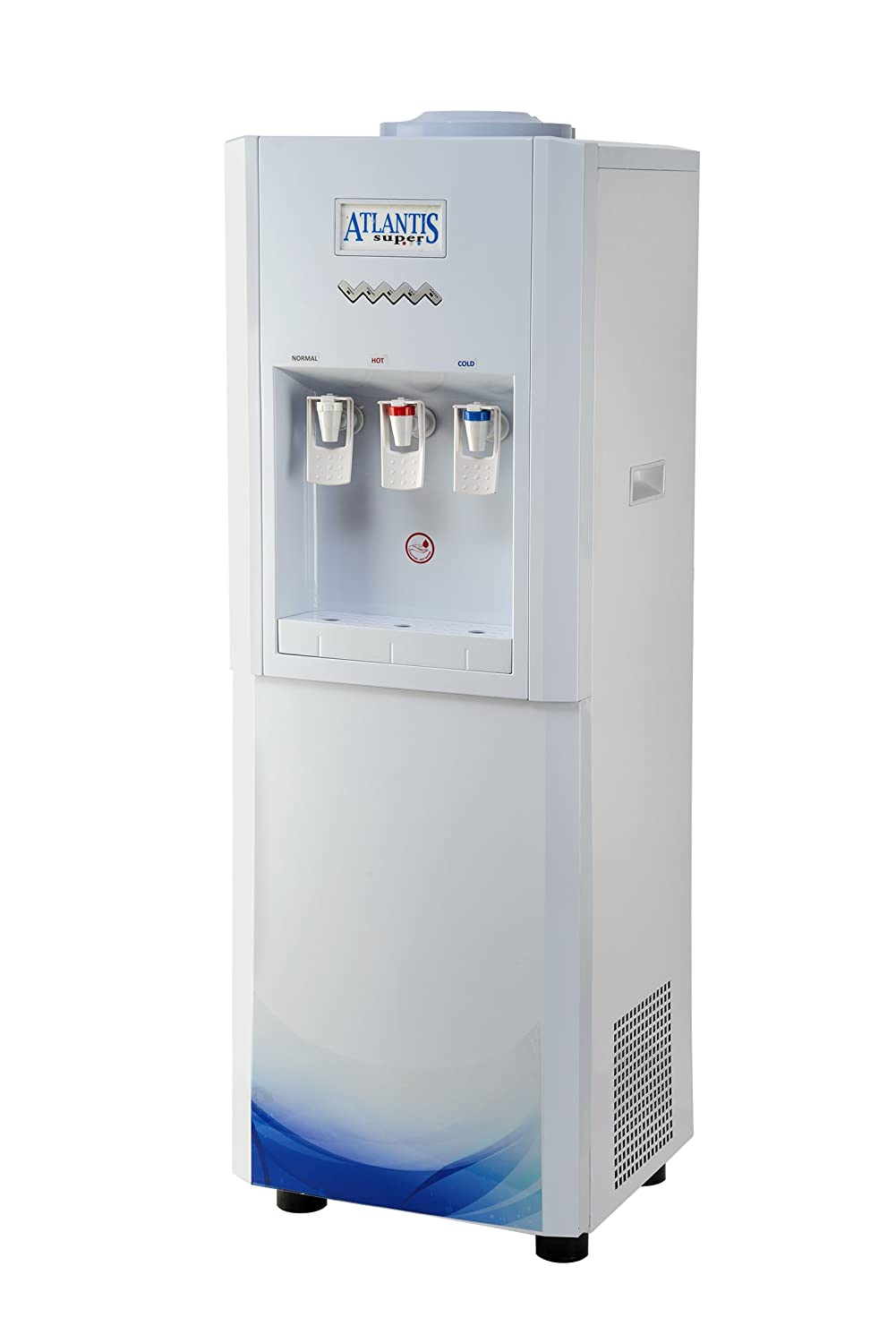Atlantis Super Hot Cold And Normal Water Dispenser Floor Standing 15 Liters Storage Capacity Cools 10 Liters Per Hour 3 Tap Amazon In Home Kitchen
