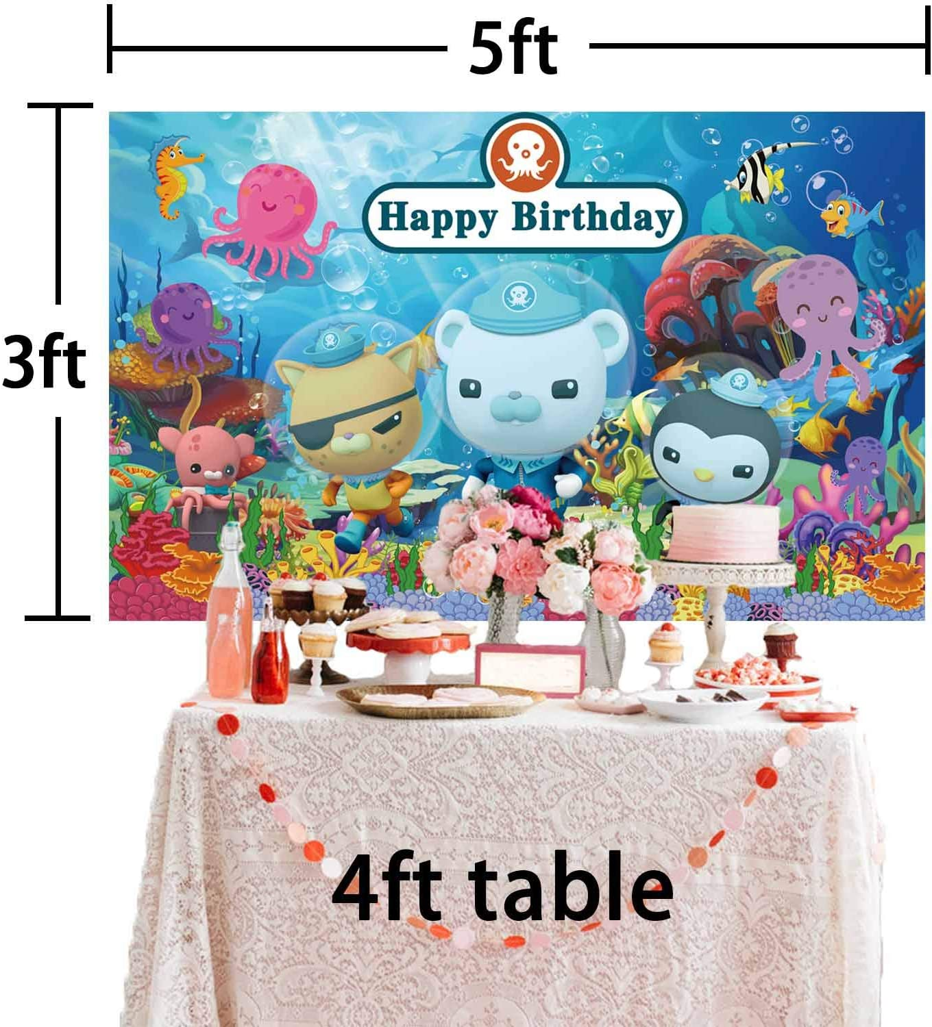 Boy Under The Sea Animals Octonauts Backdrop Birthday Party Supplies Octopus Background Photography