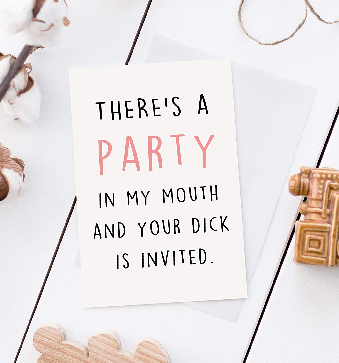 I Want You In My Mouth Naughty Funny Card