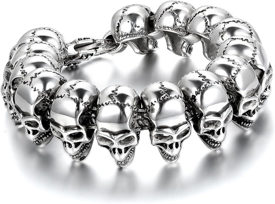 Acheter bracelet tete de mort online 11