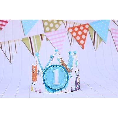 Corona 1 cumpleaños de tela par bebés y niños decoración de fiesta infantil