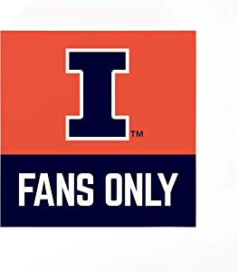 P. Graham Dunn University of Illinois Fans Only 5.5 x 5.5 MDF Wood Tabletop Block Sign