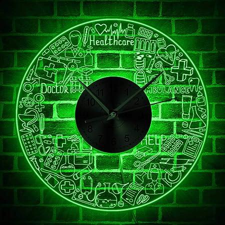 EWJY Departamento De Bomberos Iluminación Led Reloj De Pared ...