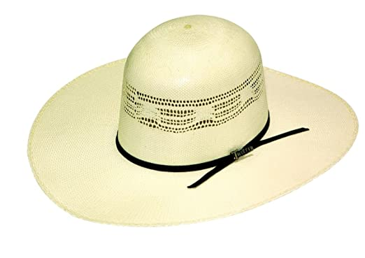 Twister Men s Premium Bangora Open Crown Straw Cowboy Hat Natural 7 ... 07d66eb4391