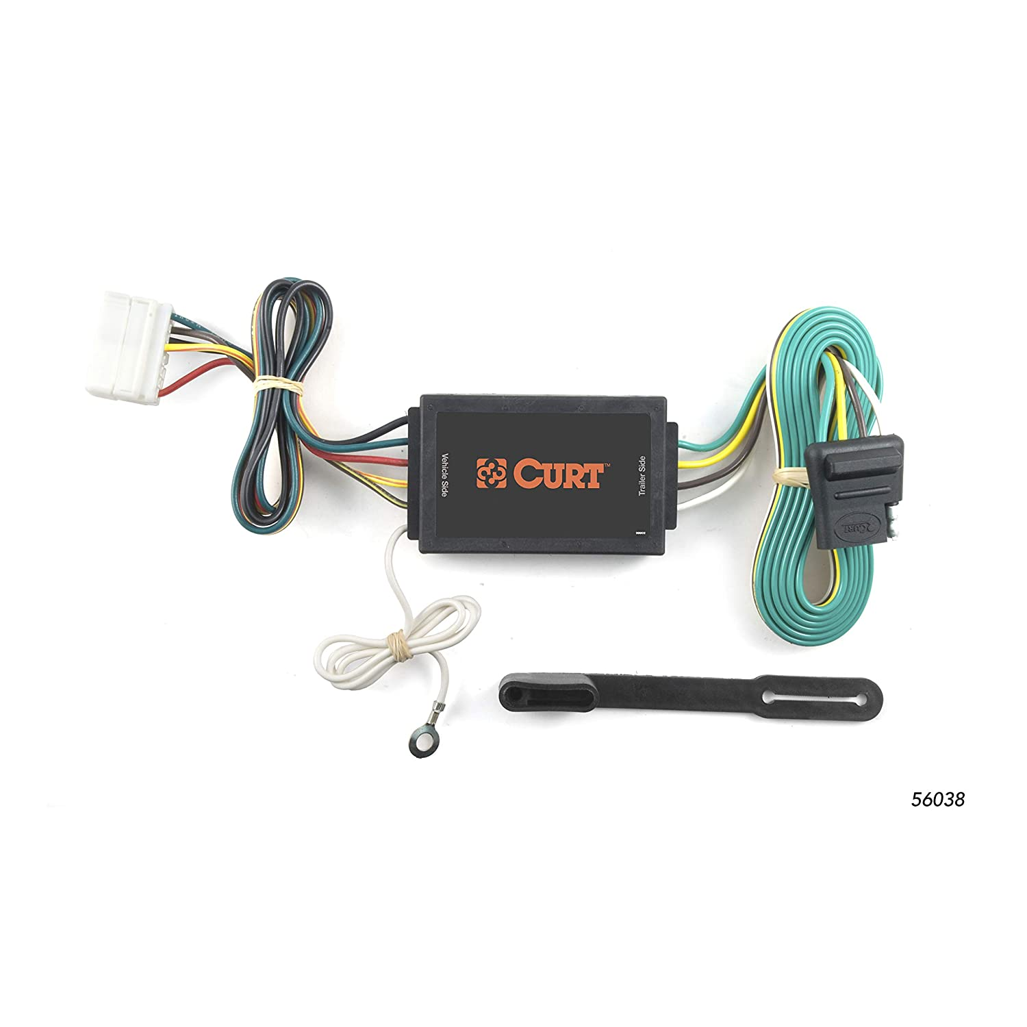 curt 56038 vehicle side custom 4 pin trailer wiring harness for select acura mdx suv Chevy Astro Trailer Wiring Harness