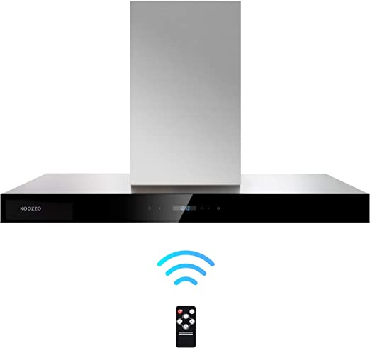 Amazon Com Koozzo 36 Convertible Wall Mount Stainless Steel Range Hood 3 Fan Speeds Touch Control And Remote Control Led Lights 2 Aluminum Filters Extension Chimney Included Outlet Adapter Included Appliances