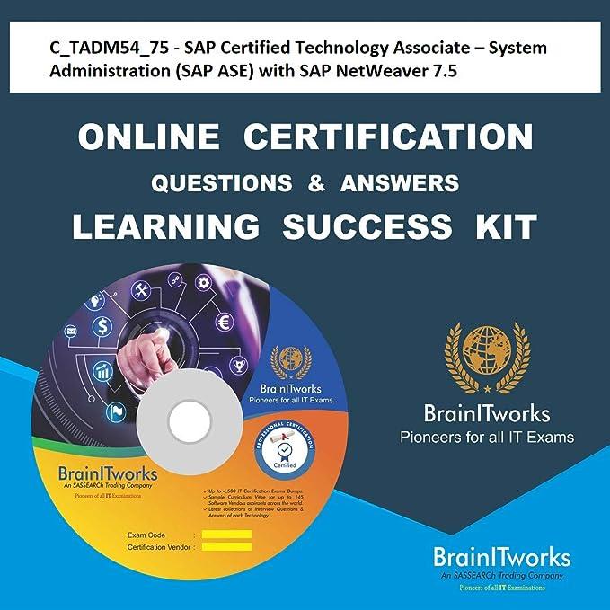 Ctadm5475 Sap Certified Technology Associate System