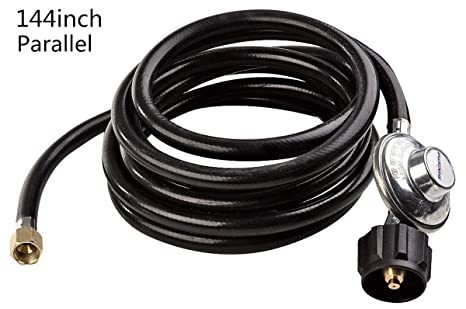 SHINESTAR Propane Regulator with 12ft LP Hose for Type1 Gas Tank BBQ Grill Replacement with  sc 1 st  Amazon.com & Amazon.com : SHINESTAR Propane Regulator with 12ft LP Hose for Type1 ...