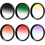 58mm Graduated Color Filter Kit Set for Canon EOS70D 60D 700D 650D 1100D 1000D 600D 50D 550D 1DX 5D Mark 5D2 5D3 6D 7D 70D 60D 700D 650D 1100D 1000D 600D 50D 550D 500D 40D 30D 350D 400D 450D 30D 10D LF140