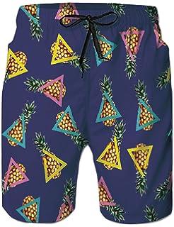 7a3593a83 Loveternal Hombre Pantalones Cortos de Playa Secado Rápido Bañador Estampado  Beach Shorts