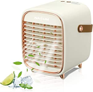 Portable Air Conditioner, NASUM Air Cooler with 3 Speeds, Cooling fan with Atomization & Spray timing function, Mini AC for Home Office Bedroom, Kitchen, Dorm, Car, Camping Tent, etc.