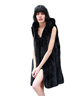 b0d305a108 CY Boutique Luxury Soft faux fur Long design oversized hoodie gilet coat  black grey color