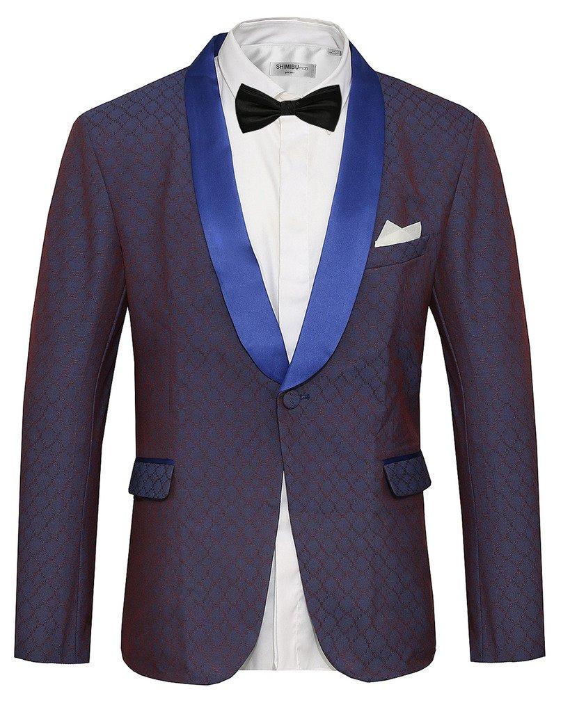 Hanayome Men's 1 Button Black Classic Notch Collar Tuxedo Jacket Party Suit Tux SI22 SI22-JKA1