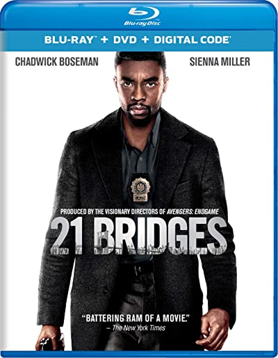 Poster of 21 Bridges 2019 Full English Free Download Watch Online In HD Movie Download 480p BluRay